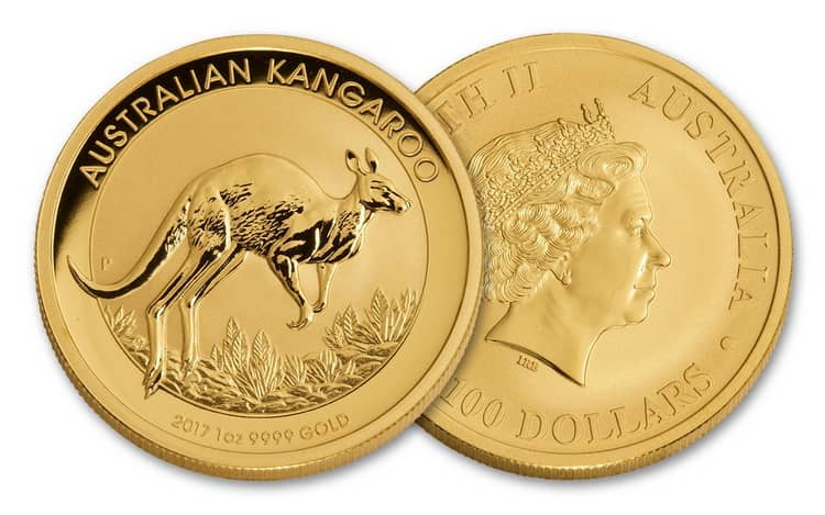 Монета с серии Кенгуру 2017г