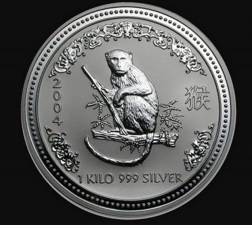 австралийская монета с Лунной серии - год Обезьяны