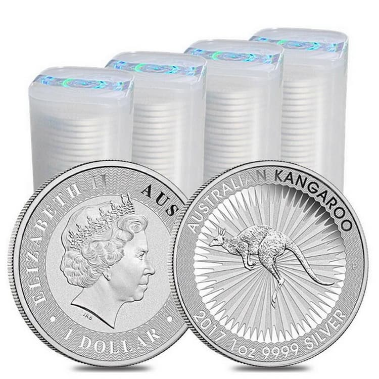 plastic tube of 25 coins
