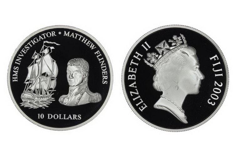 Монета с изображением Мэтью Флиндерс