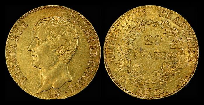 золотая монета Наполеондор