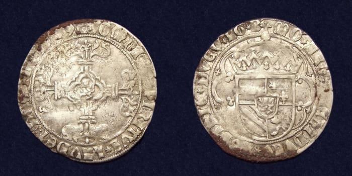 Номинал 1 стивер чеканка 1738 г.