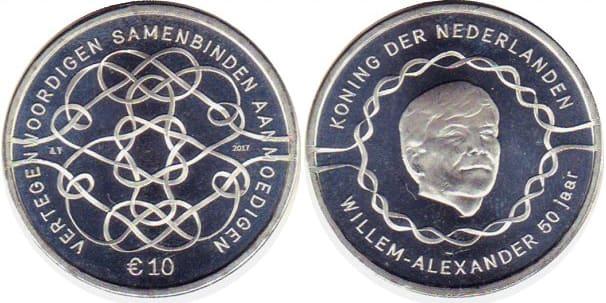 Номинал 10 евро «Виллем-Александр» 2017 г.