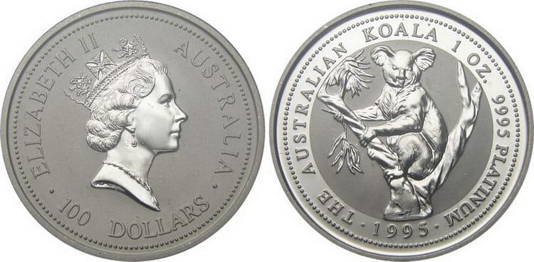 Платиновая монета с Коалой