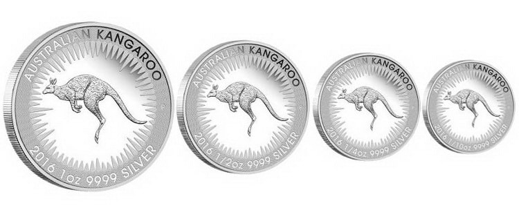 Серебряная монета серии«AUSTRALIAN KANGAROO»