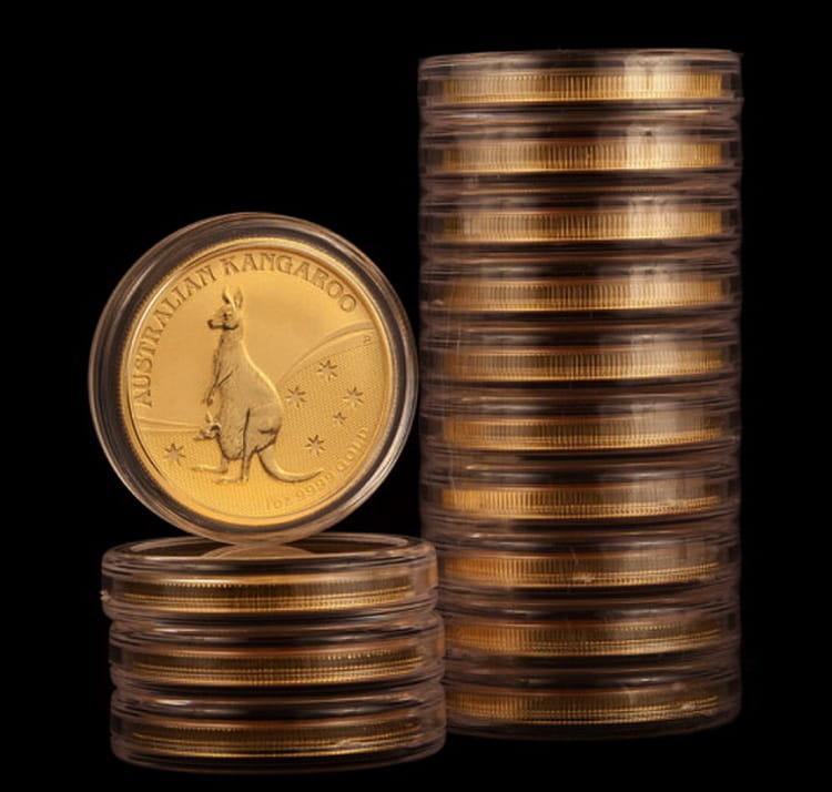 Упаковка монет с серии кенгуру