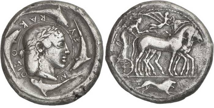 Серебряные монеты в Древней Греции можно было легко отличить по символике