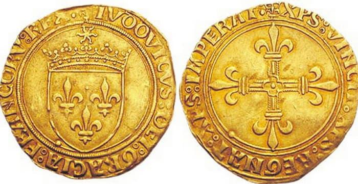 монета золотой экю