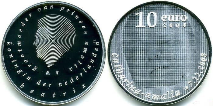 монета «Рождение принцессы Катарины-Амалии» 2004 г