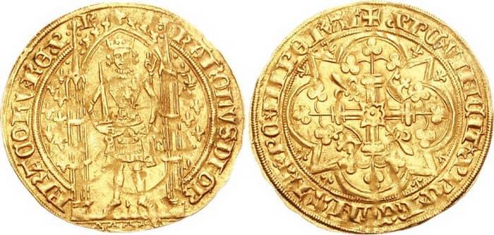 золотой пеший франк