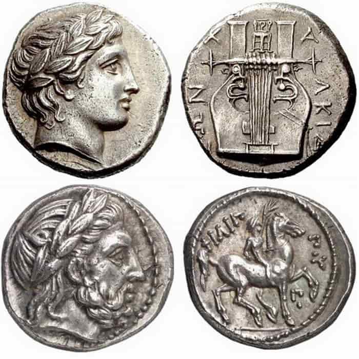 разные монеты древней греции