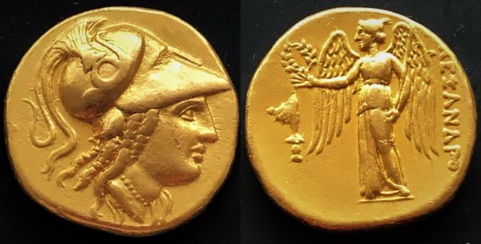 золотой статер Македонского