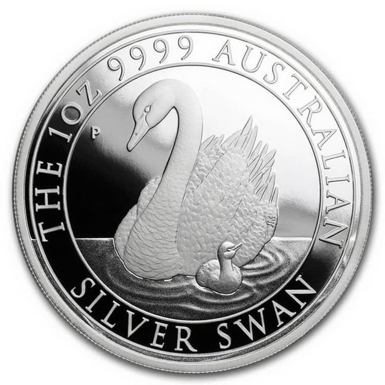 The 1oz 9999 AUSTRALIAN» и «SILVER SWAN