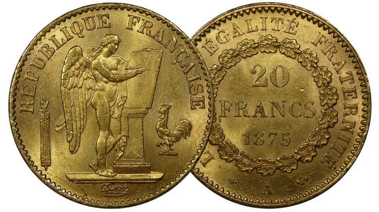 "20 francs of the ""Angel"" series (1871-1898)"