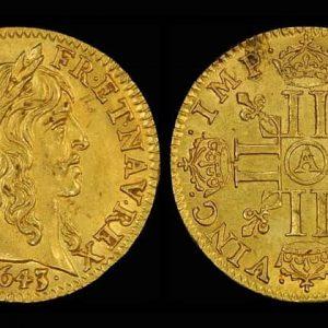 старинные монеты Франции из золота