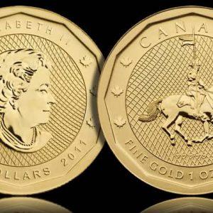 Канадские монеты серии Золотой слиток