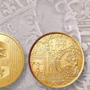Золотые и серебряные французские памятные монеты