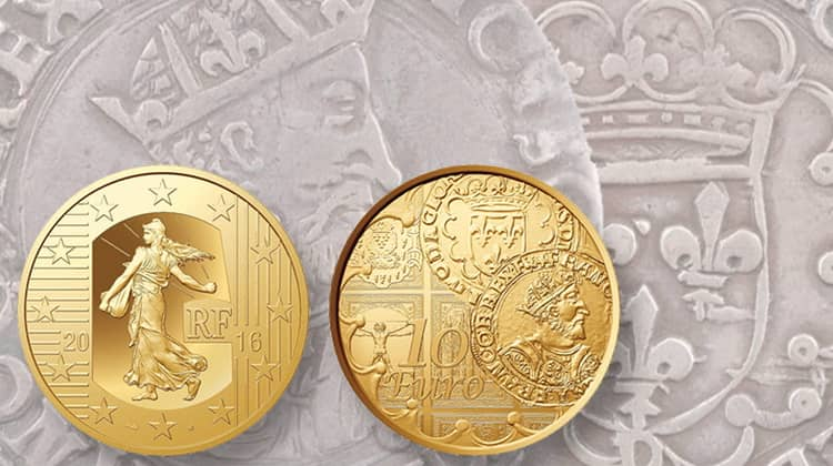 Modern commemorative gold coins of France