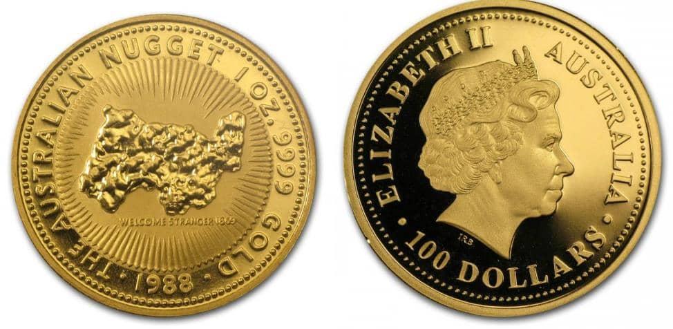 Монета с серии Золотой самородок