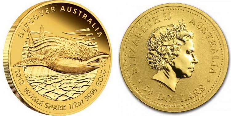50 австралийских долларов с изображением кита