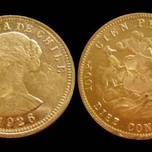 Золотые и серебряные монеты Чили