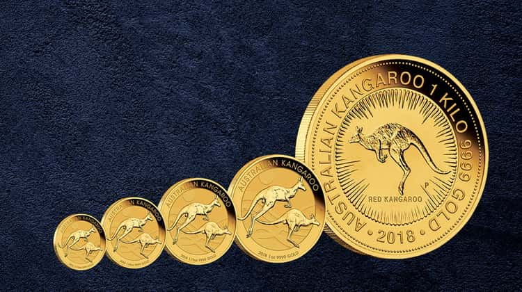 "Australian gold coins of the ""Kangaroo"" series"
