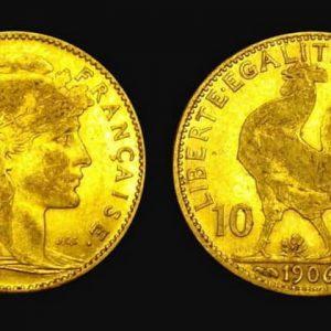 20 франков серии Петух