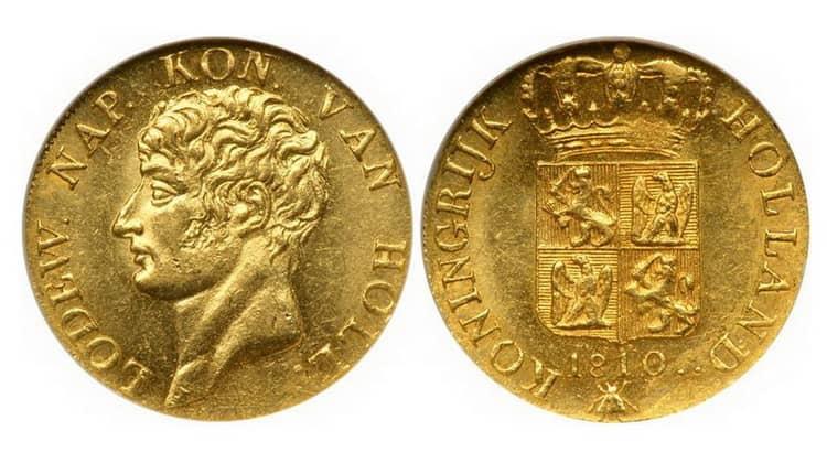 Голландские золотые и серебряные монеты