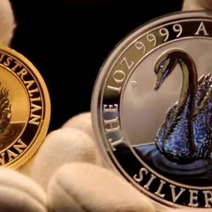 Золотые и серебряные австралийские монеты серии Лебедь