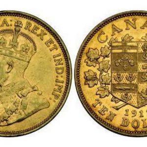 10 канадских долларов 1914