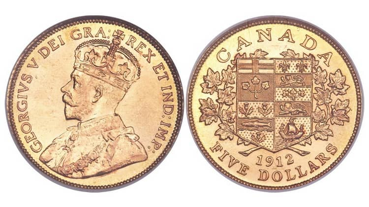 5 Canadian dollars (1912-1913)