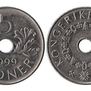 норвежские монеты разных годов