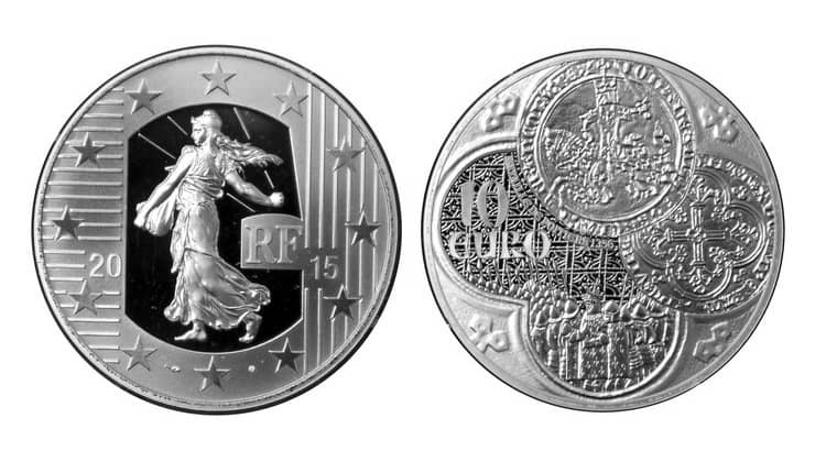 Modern commemorative silver coins of France