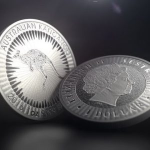 Australian silver coins of the Kangaroo series