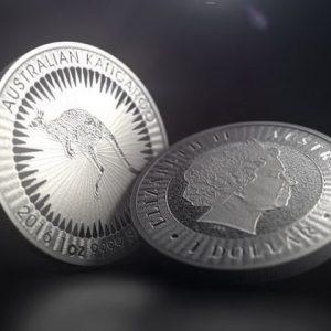 Серебряные австралийские монеты серии Кенгуру