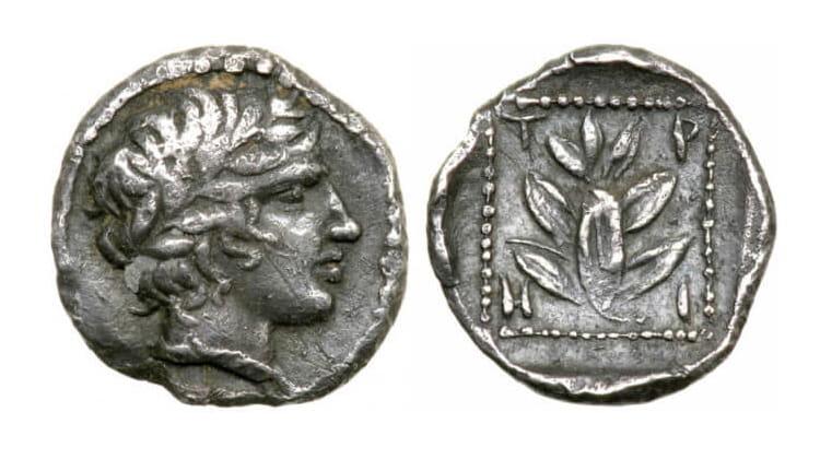 Старинные монеты Древней Греции из золота и серебра