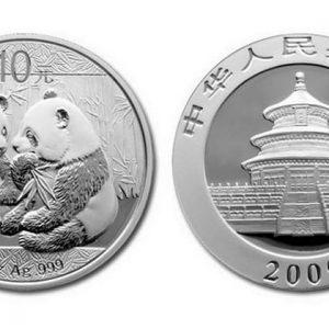 Китайские серебряные монеты серии Панда