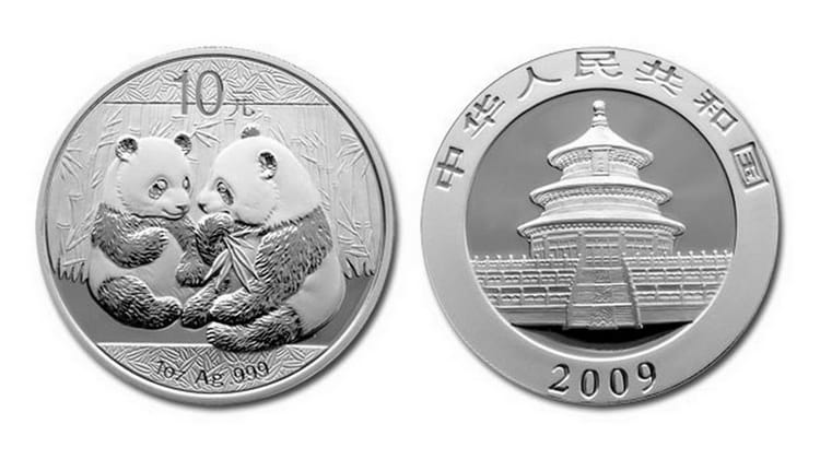 Chinese Silver Panda series coins