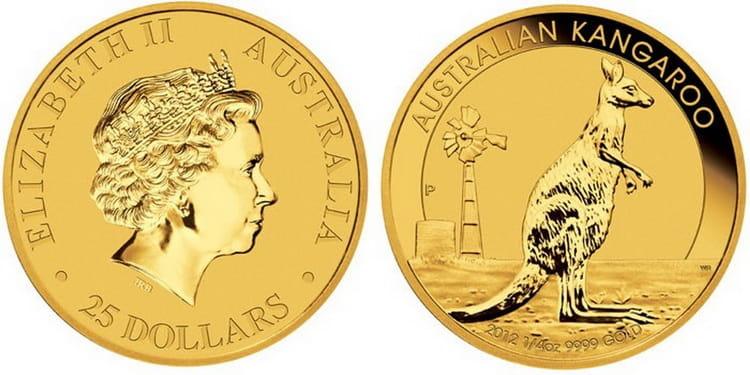 Монета в 50 долларов с Кенгуру 2012