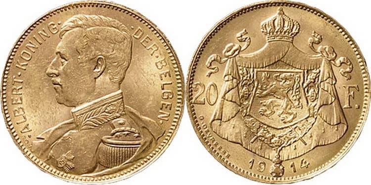 Coins of Albert I reign