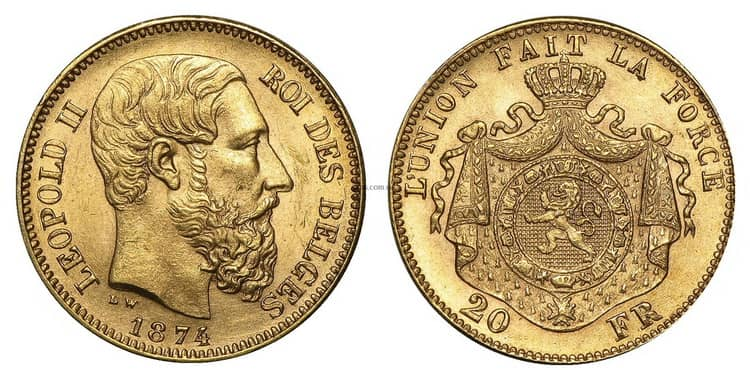 Coins of Leopold II reign