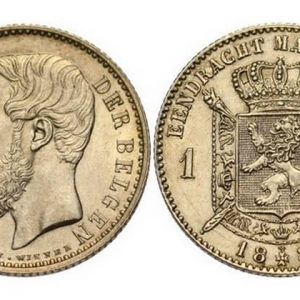 Belgian antique gold and silver coins