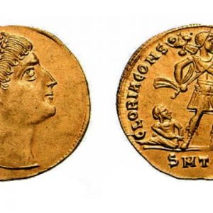 Solidus coins of Byzantine Empire