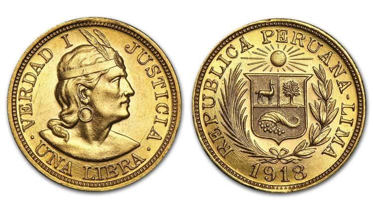 1 Peruvian Libra (1898-1969)