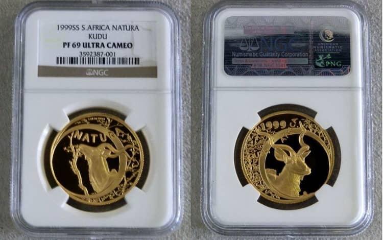 Монета «Антилопа Куду», чеканка 1999 г.