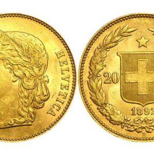 Монеты 20 швейцарских франков (1897-1949)
