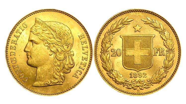 20 Swiss francs (1897-1949)