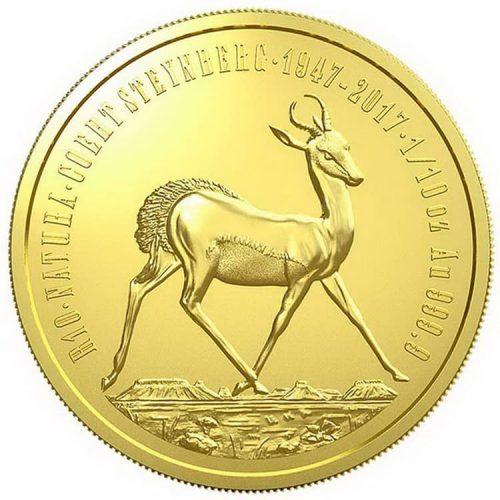 Монета «Антилопа Спрингбок», чеканка 2017 г.