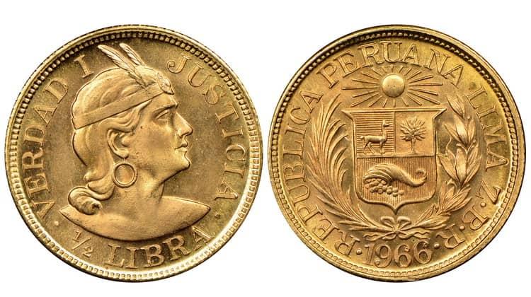 1/2 Peruvian libra (1898−1969)
