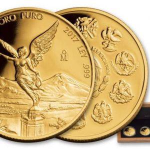 Мексиканские либертады из золота